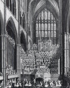 The chorus, orchestra and organ in Westminster Abbey on the occasion of the Handel Commemoration in 1784